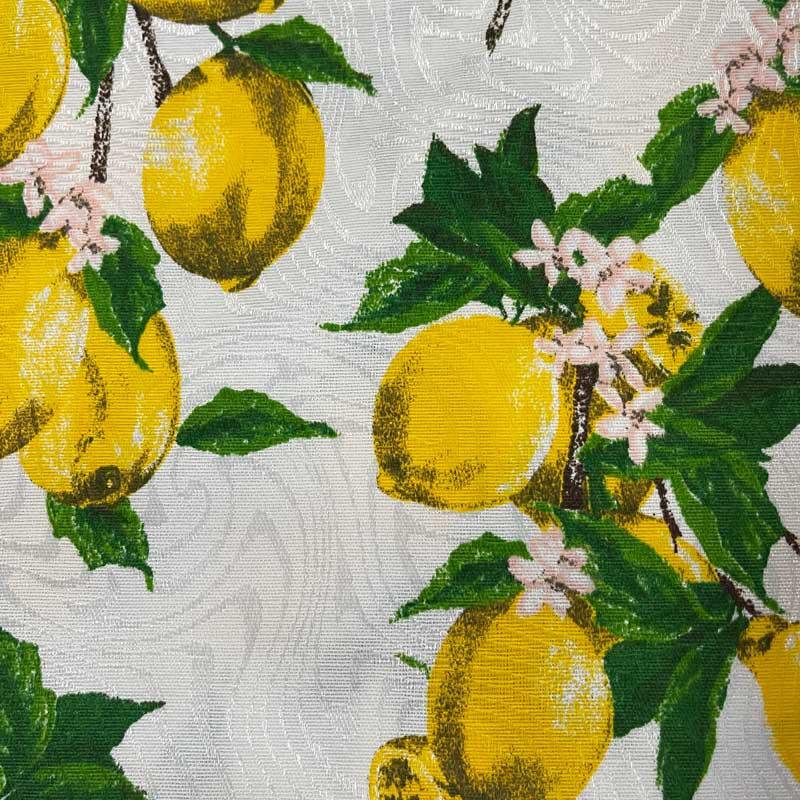 Tecido Jacquard - Limão Branco - 50cm x 140cm