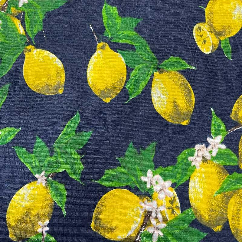 Tecido Jacquard - Limão Marinho - 50cm x 140cm