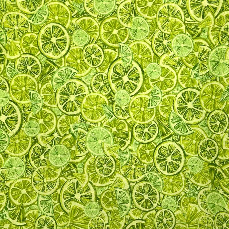 Tecido Jacquard - Limões - 50cm x 140cm