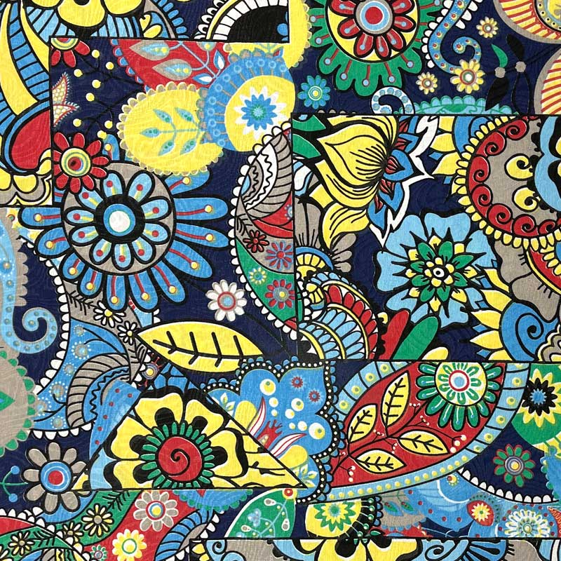 Tecido Jacquard - Vitral Colorido - 50cm x 140cm