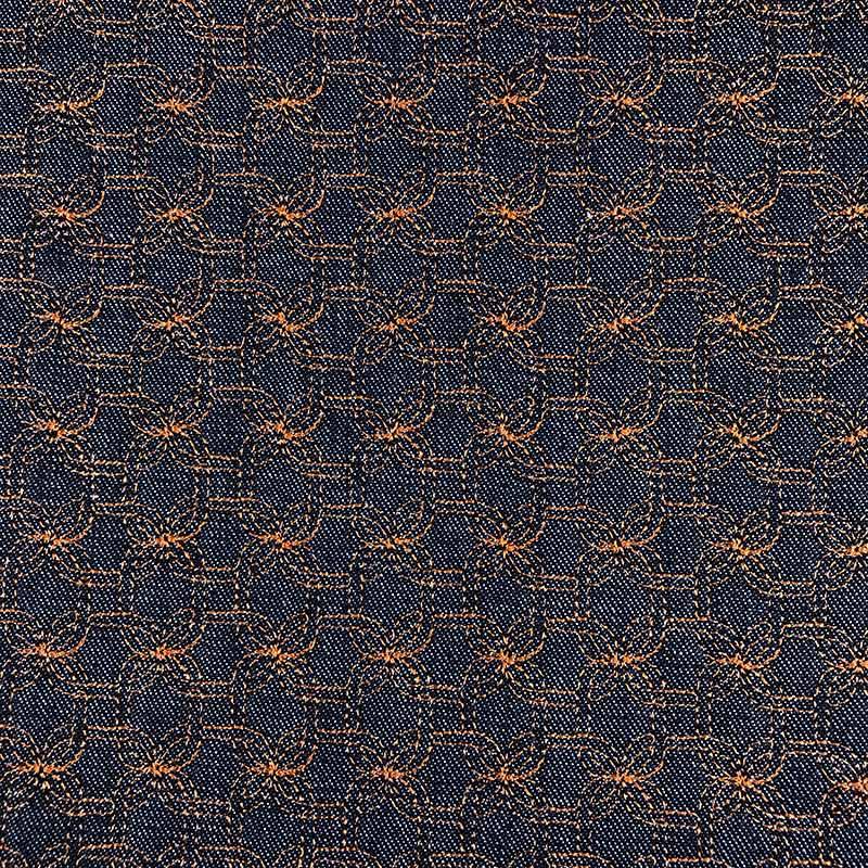 Tecido Matelassado Jeans Corrente Linha Caramelo - 50cm X 150cm