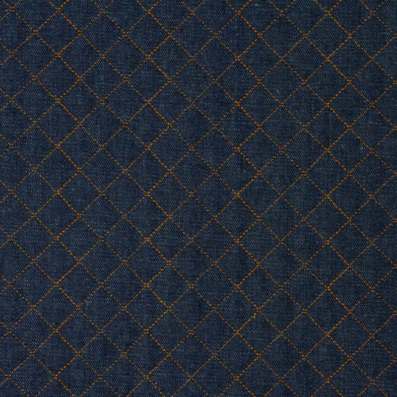 Tecido Matelassado Jeans Reto Linha Caramelo - 50cm X 150cm