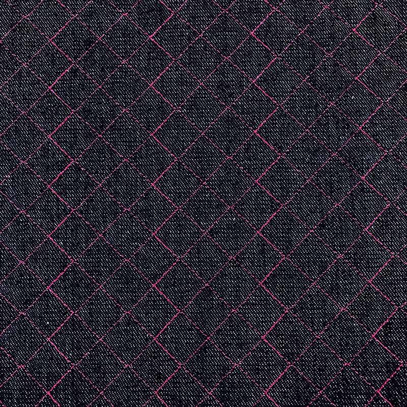 Tecido Matelassado Jeans Reto Linha Rosa - 50cm X 150cm