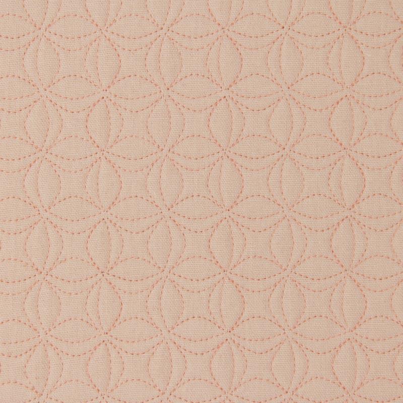 Tecido Matelassado Linho Rosa Flor de Lótus Pequena - 50cm X 140cm