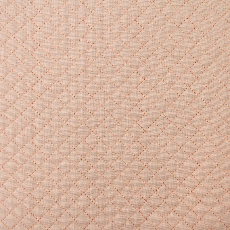 Tecido Matelassado Linho Rosa Reto - 50cm X 140cm