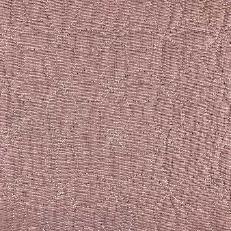 Tecido Matelassado Linho Rosé Flor de Lótus - 50cm X 140cm