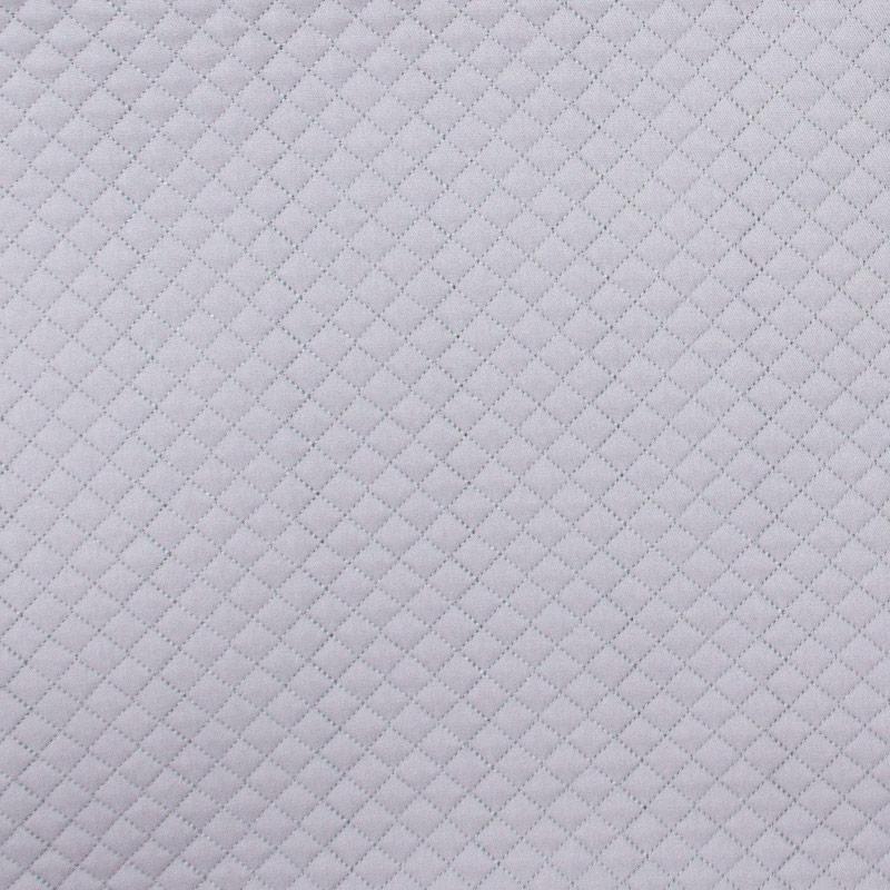 Tecido Matelassado Sarja Cinza Reto - 50cm X 150cm