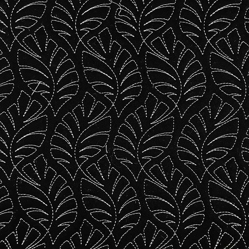 Tecido Matelassado Sarja Costela de Adão Preto Linha Branca - 50cm X 150cm