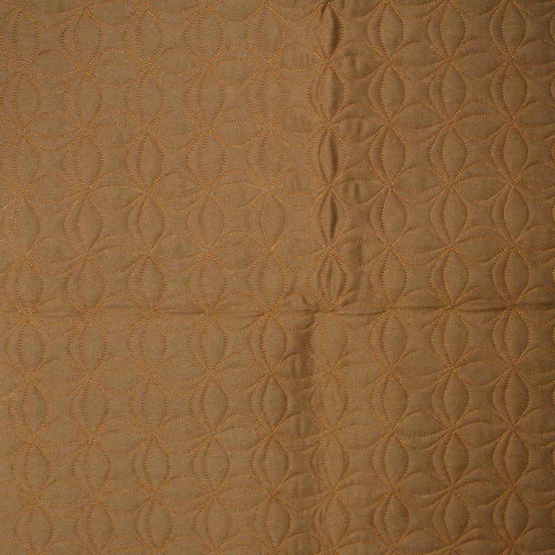 Tecido Matelassado Sarja Ferrugem Flor de Lótus - 50cm X 150cm
