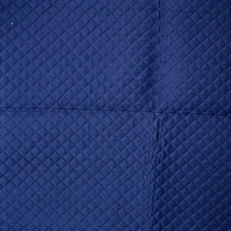 Tecido Matelassado Sarja Marinho Reto - 50cm X 150cm