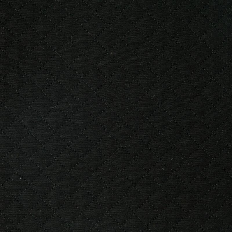 Tecido Matelassado Sarja Reto Preto - 50cm X 150cm