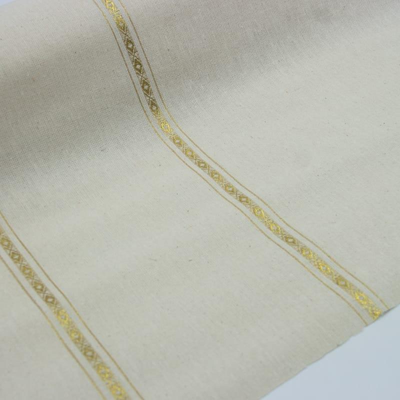 Tecido Pano de Copa Com Friso Destaque Dourado  - 100cm x 70cm