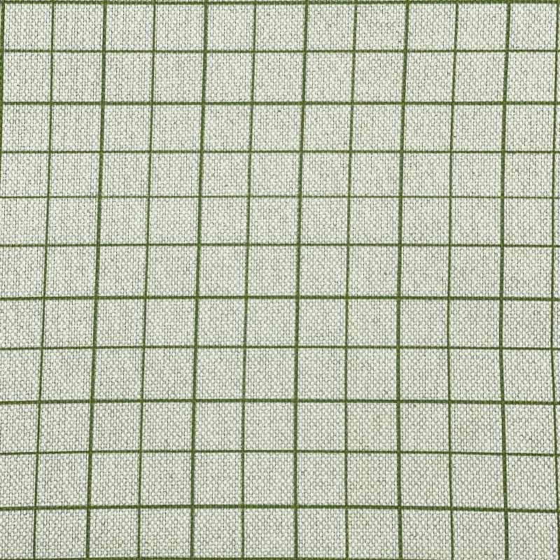 Tecido Rústico Algodão - Quadriculado Verde - 50cm x 140cm