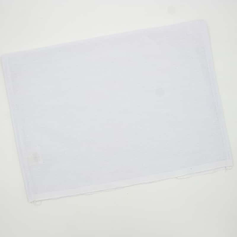 Tecido Sacaria Pano de Copa Branco Com Bainha - 67cm x 44cm