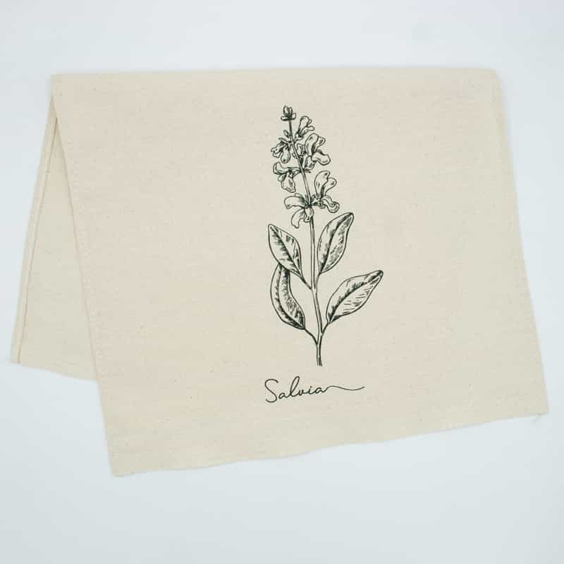 Tecido Sacaria Pano de Copa Crú Com Bainha Salvia - 72cm x 45cm