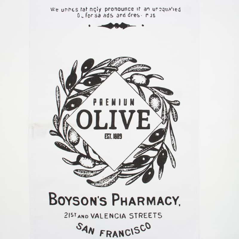 Tecido Sacaria Pano de Copa Vintage Com Bainha Olive  - 72cm x 45cm
