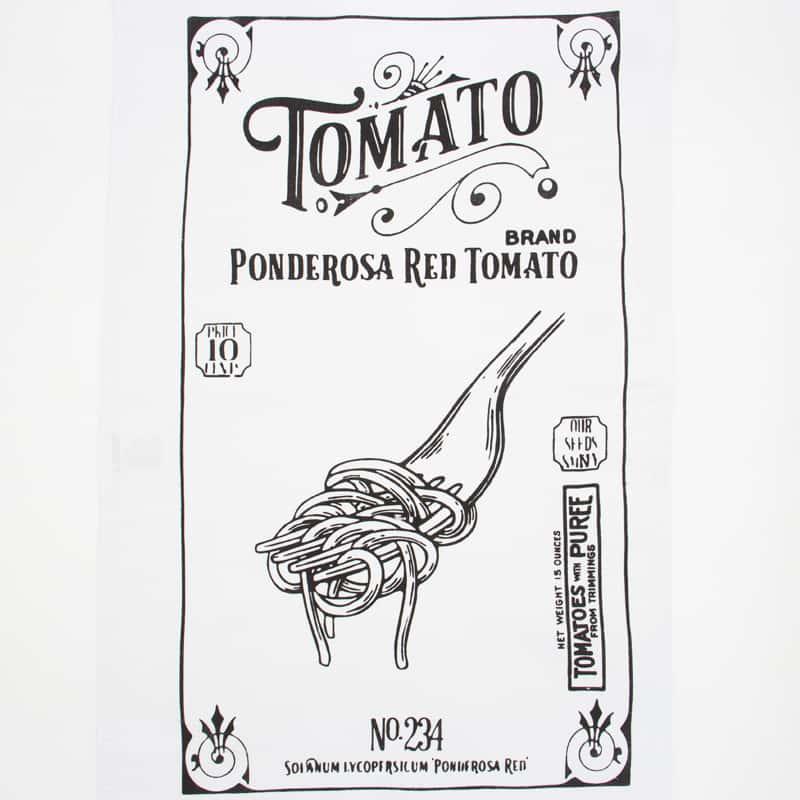 Tecido Sacaria Pano de Copa Vintage Com Bainha Tomato  - 72cm x 45cm
