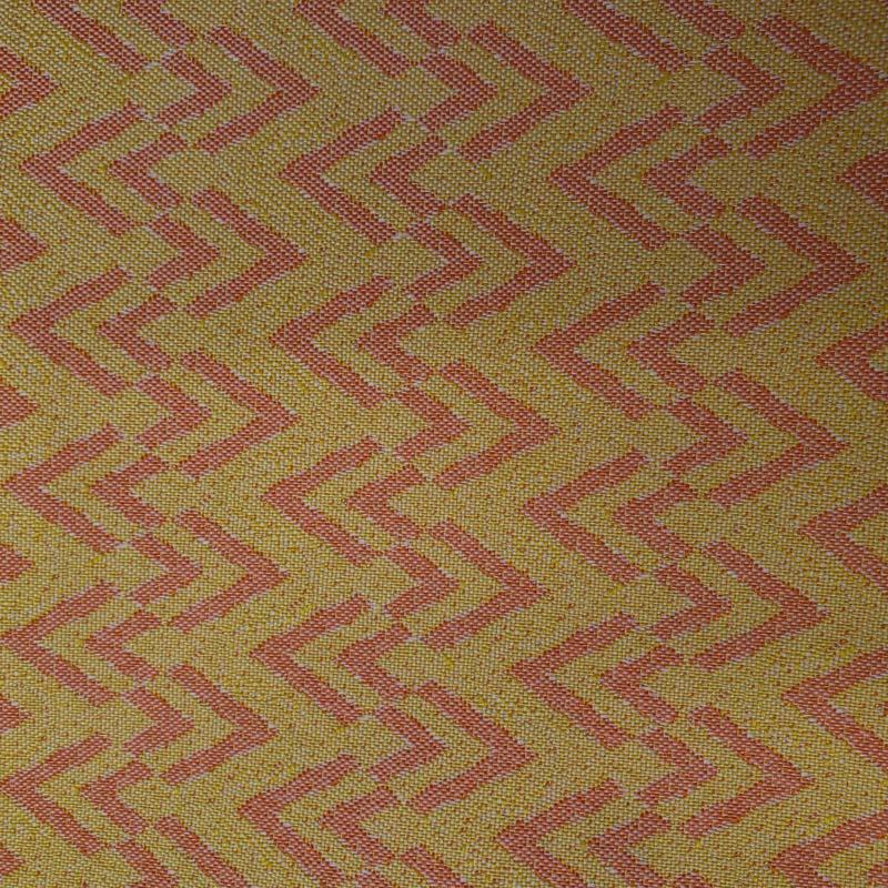 Tecido Tapeçaria Para Artesanato - Chevron Laranja- 50cm x 140cm