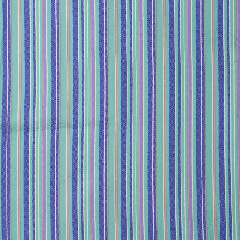 Tecido Tapeçaria Para Artesanato - Listrado Azul - 50cm x 140cm