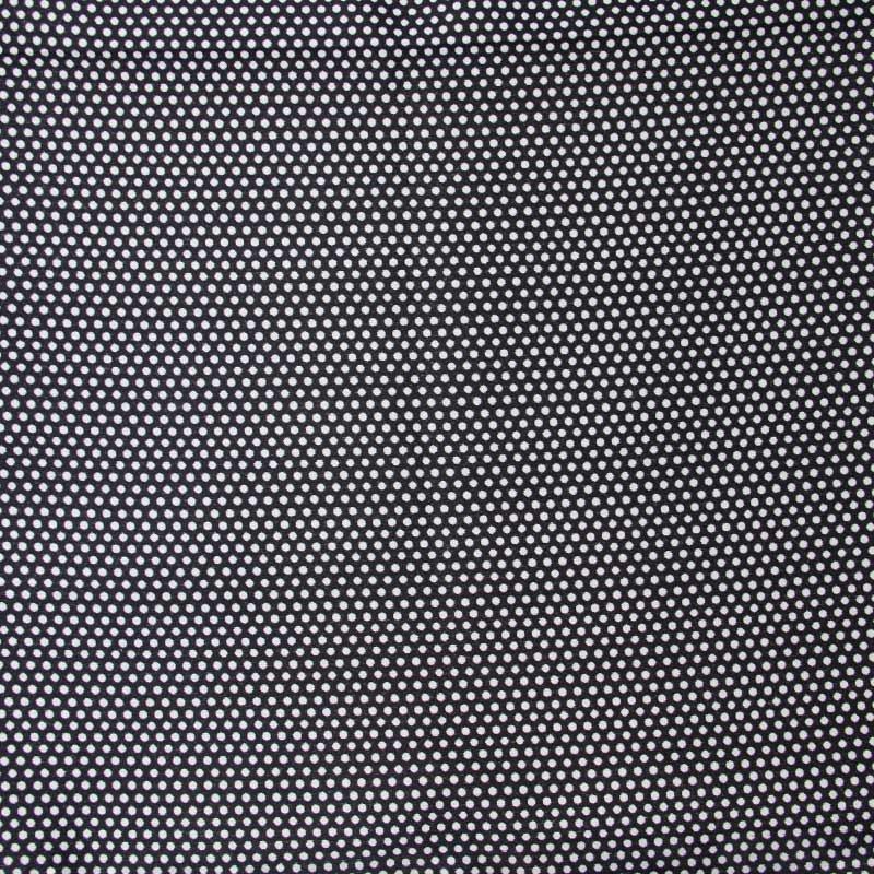 Tecido Tapeçaria Para Artesanato - Poá Fundo Preto - 50cm x 140cm