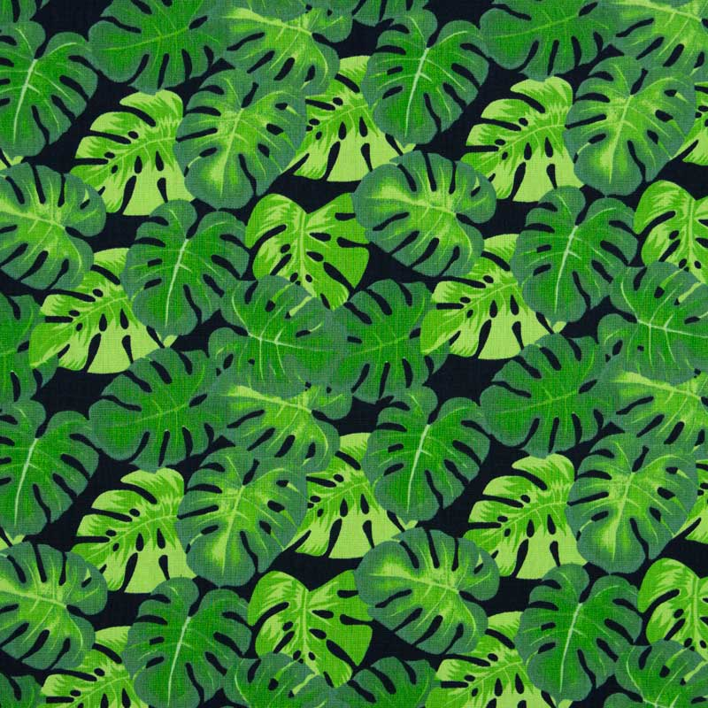 Tecido Tricoline 100% Algodão Estilotex - Estampa Costela de Adão - 50cm x 150cm
