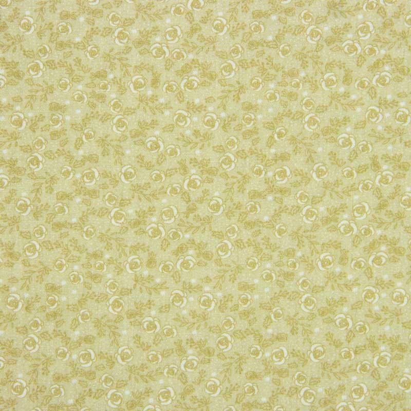 Tecido Tricoline 100% Algodão Estilotex - Estampa Floral Chique - 50cm x 150cm