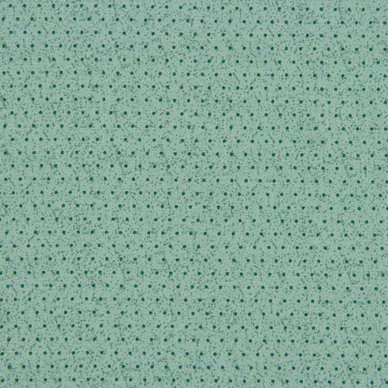 Tecido Tricoline 100% Algodão Estilotex - Estampa Poá Chique Verde Esmeralda - 50cm x 150cm