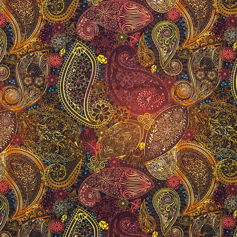 Tecido Tricoline Digital 100% Algodão 1000 Tons - Estampa Anaya - 50cm x 150cm