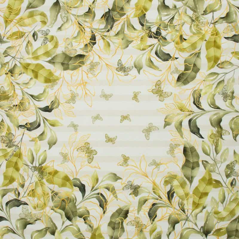 Tecido Tricoline Digital Estampado - Folhagem Sousplat - 50cm X 150cm
