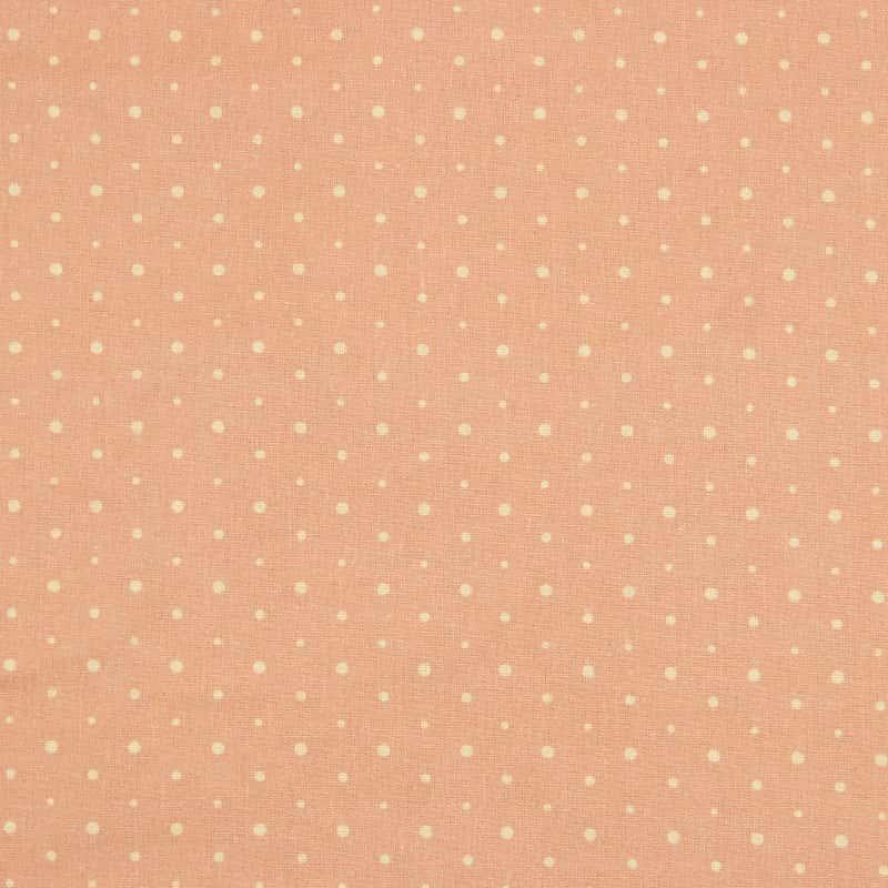 Tecido Tricoline Digital Estampado - Provence Poá Rosa - 50cm X150cm