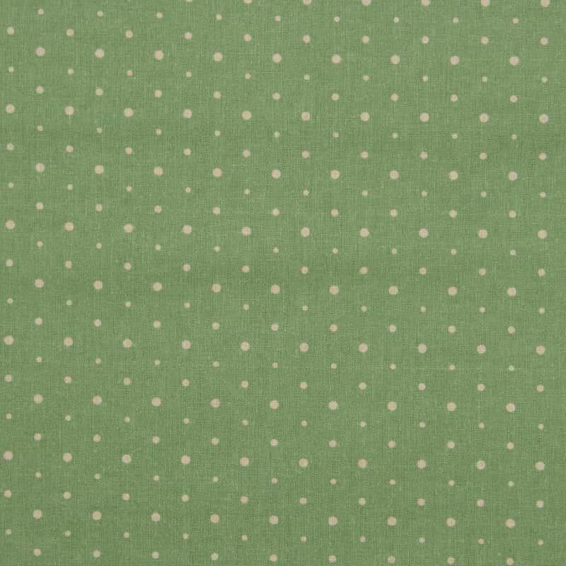 Tecido Tricoline Digital Estampado - Provence Poá Verde - 50cm X150cm