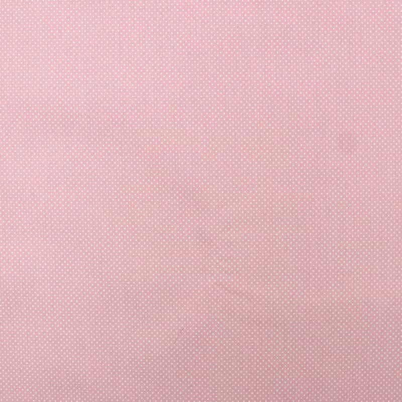 Tecido Tricoline Estampa - Micro Poá Rosa Bebê - 50cm X150cm