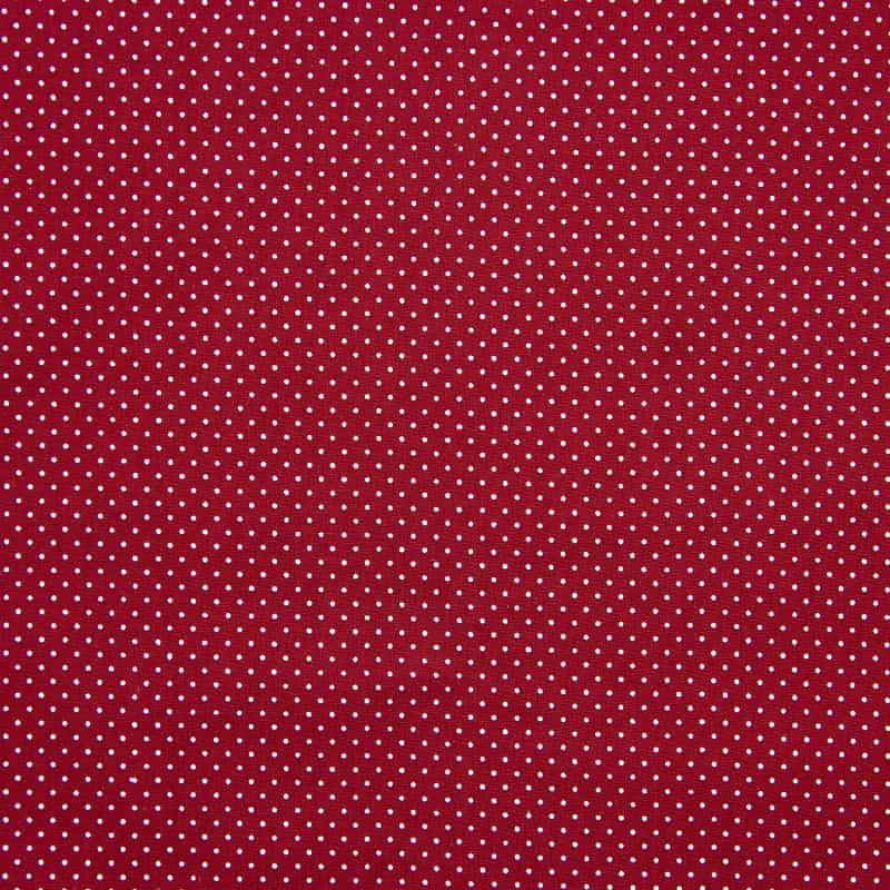 Tecido Tricoline Estampa - Micro Poá Vermelho - 50cm X150cm