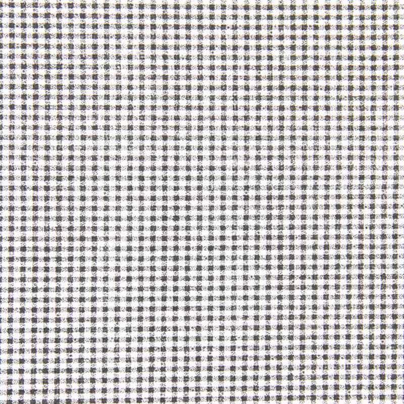Tecido Tricoline Estampa - Mini Xadrez Preto e Branco - 50cm X150cm