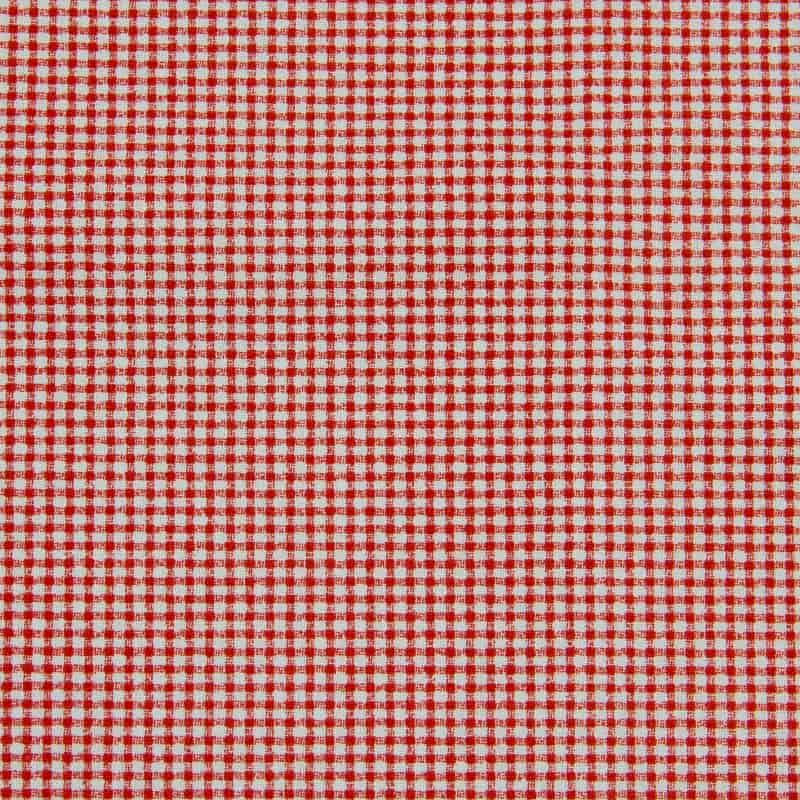 Tecido Tricoline Estampa - Mini Xadrez Vermelho - 50cm X150cm