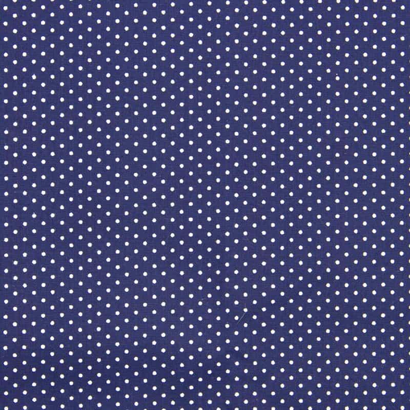 Tecido Tricoline Estampa - Poá Marinho - 50cm X150cm