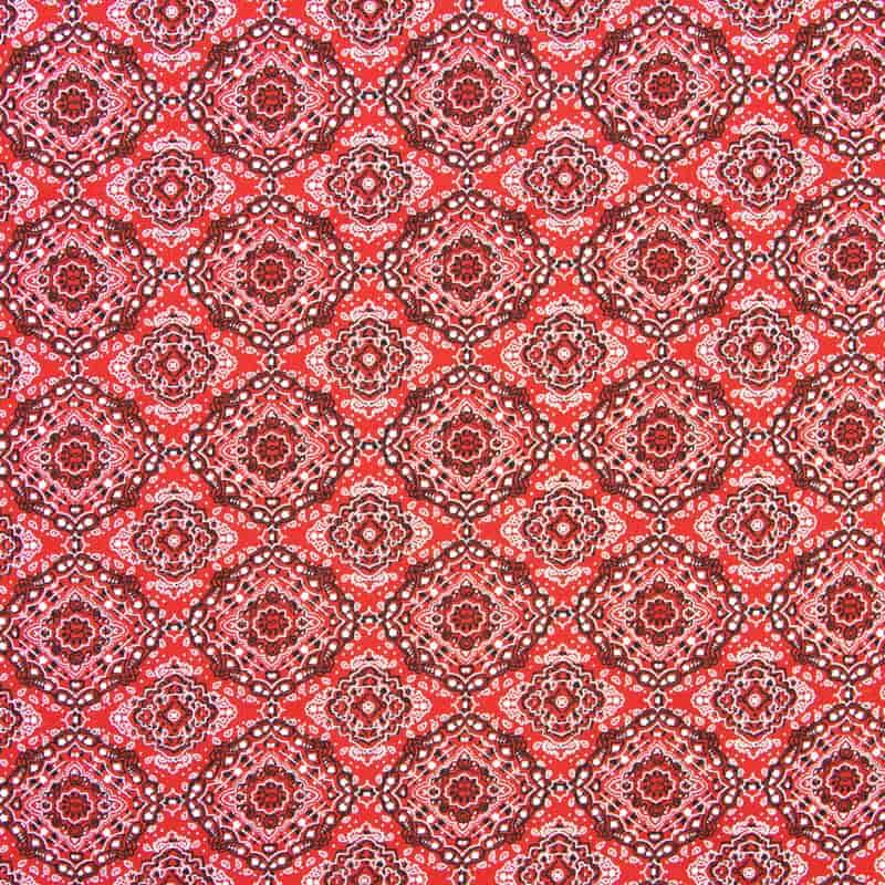 Tecido Tricoline Estampado - Bandana Vermelha - 50cm X150cm