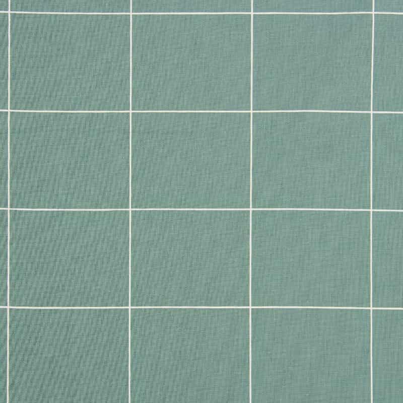 Tecido Tricoline Estampado - Grid Verde Esmeralda - 50cm X150cm