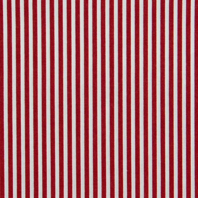 Tecido Tricoline Estampado - Listrado Vermelho - 50cm X150cm