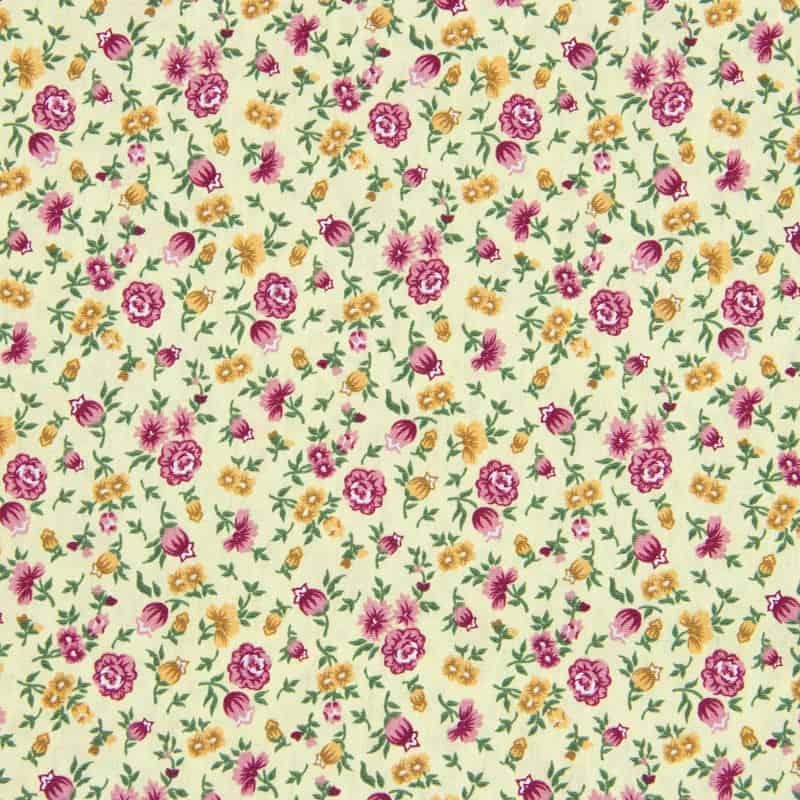 Tecido Tricoline Estampado - Mini Floral Amarelo - 50cm X150cm