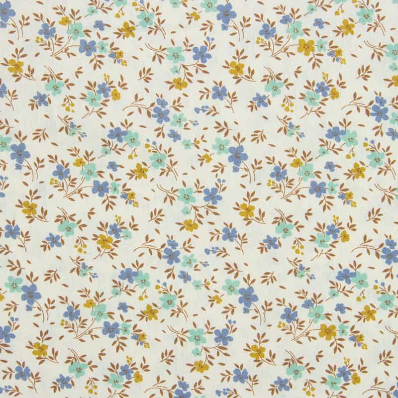 Tecido Tricoline Estampado - Mini Floral Colorido - 50cm X150cm