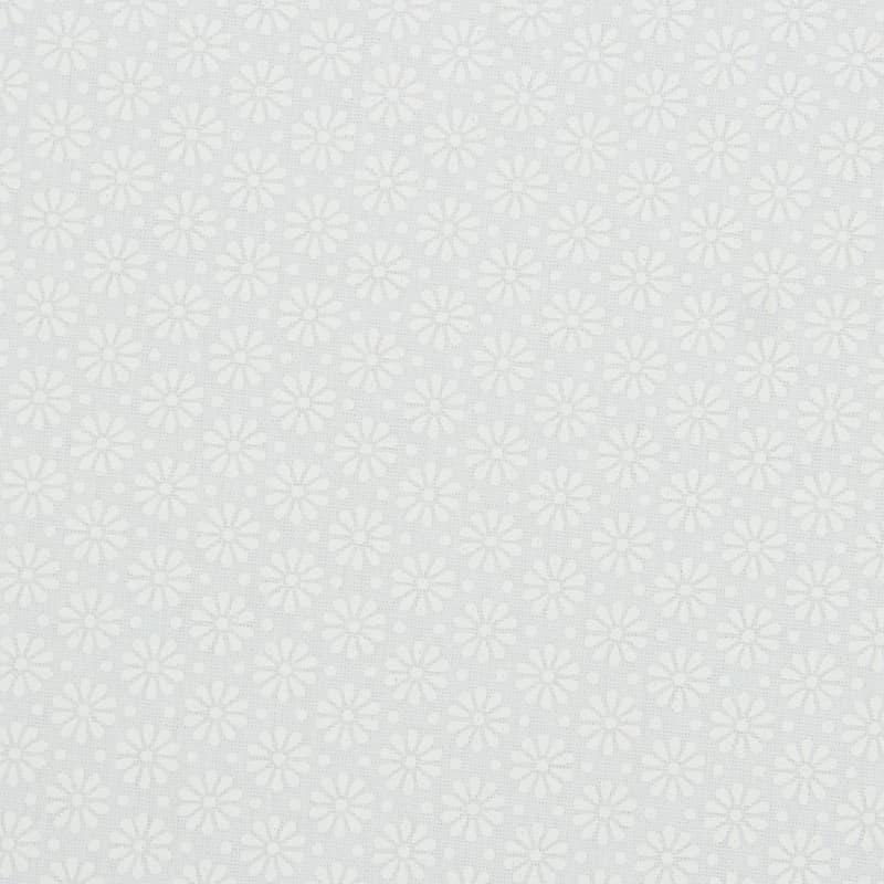Tecido Tricoline Estampado - Mini Floral TomTom Branco - 50cm X150cm