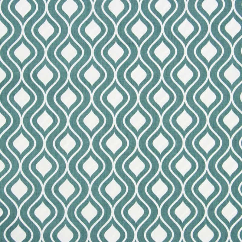 Tecido Tricoline Estampado - Ondas Verde - 50cm X150cm