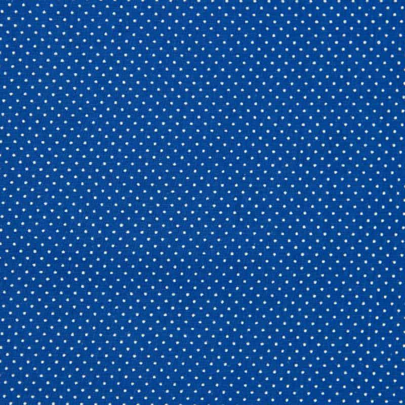 Tecido Tricoline Estampado - Poá Azul Bic - 50cm X150cm