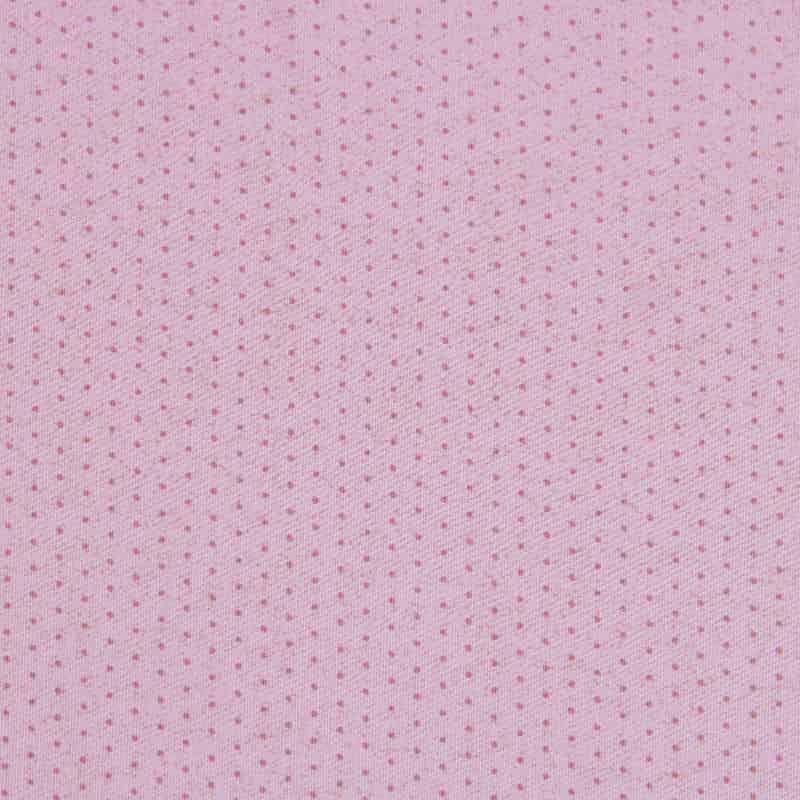 Tecido Tricoline Estampado - Poá Chique Rosa - 50cm X150cm