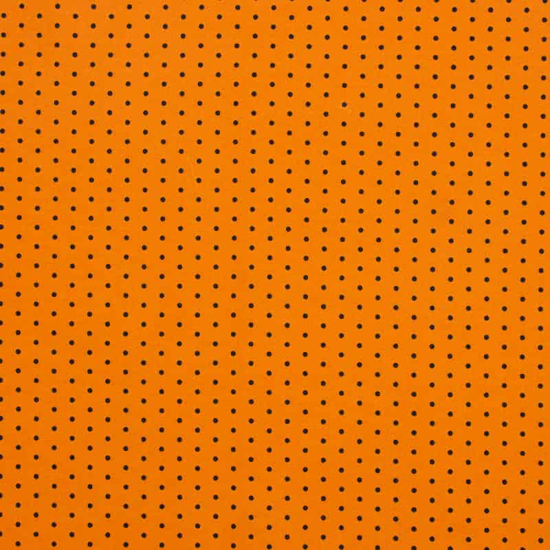 Tecido Tricoline Estampado - Poá Laranja - 50cm X150cm
