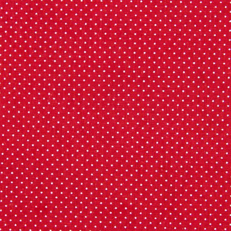 Tecido Tricoline Estampado - Poá Vermelho - 50cm X150cm