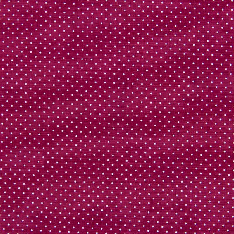 Tecido Tricoline Estampado - Poá Vinho - 50cm X150cm