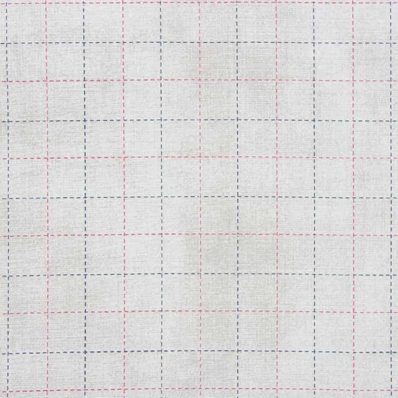 Tecido Tricoline Estampado - Xadrez Cinza - 50cm X150cm