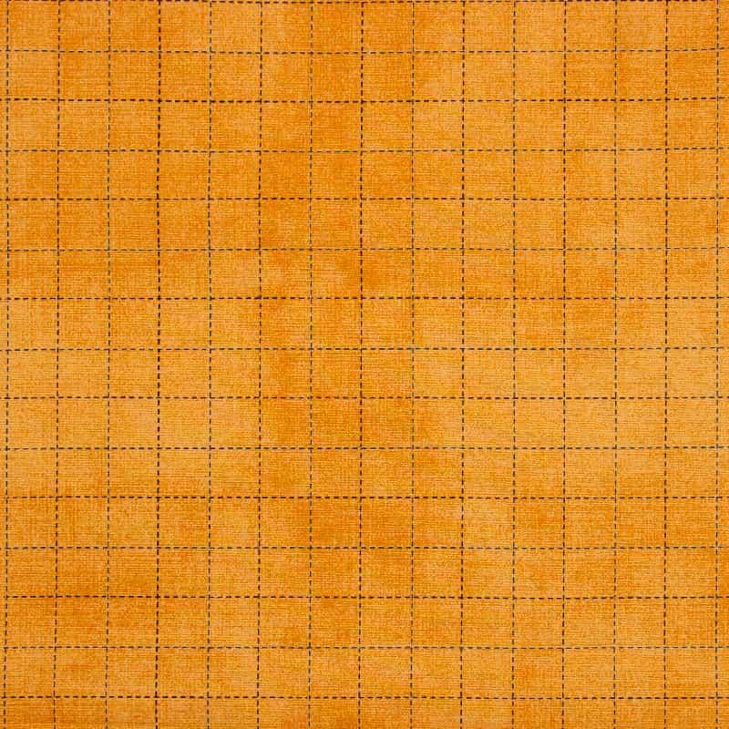 Tecido Tricoline Estampado - Xadrez Laranja - 50cm X150cm